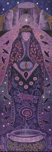 goddess banner crone goddess