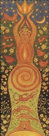 goddess banner fire goddess