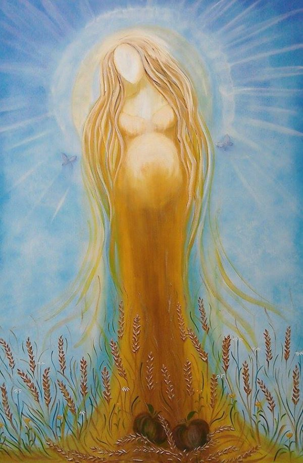 Ker Mother Goddess A4 Print by Tiana