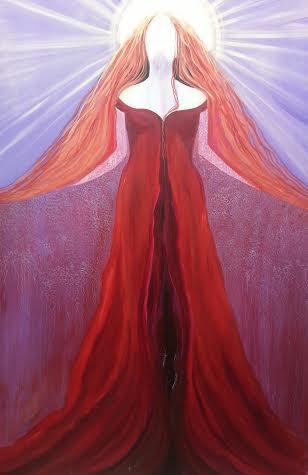 Rhiannon Goddess of Love A4 Print by Tiana