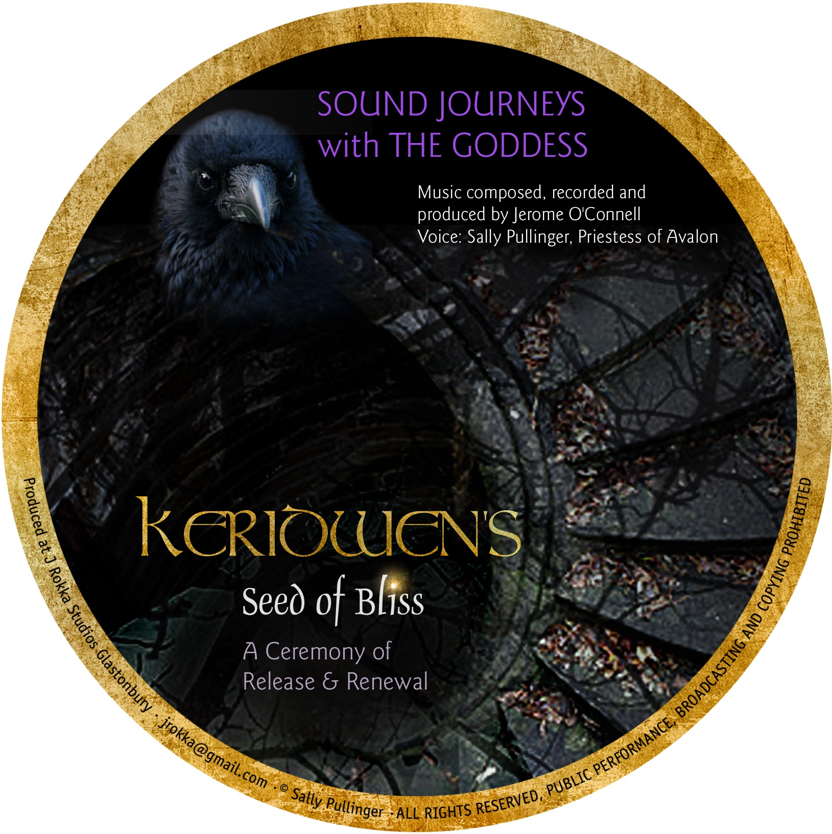 Keridwen's seed of bliss cd by sally pullinger