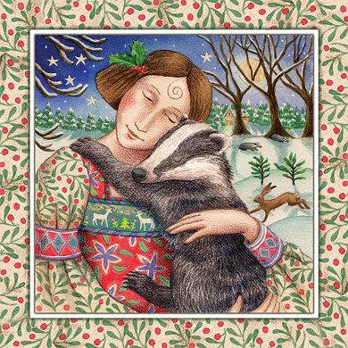 Kinsfolk Cuddles Yule Gift Card Set by Wendy Andrew