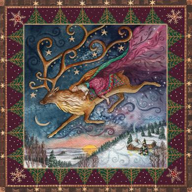 yule dawn dreaming card by wendy andrew