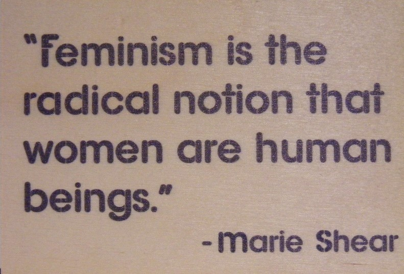 Feminism is the radical notion that women are human beings