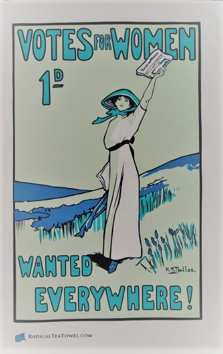 Votes For Women Wanted Suffragette Tea Towel