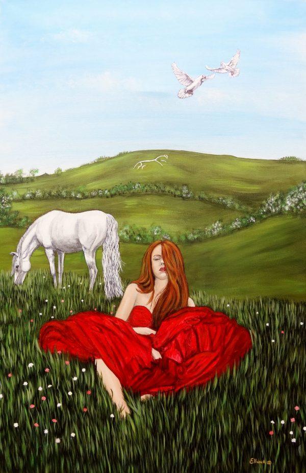 Rhiannon by Elluna Art A3 Size Print