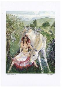 Rhiannon A3 Print by Caroline Lir