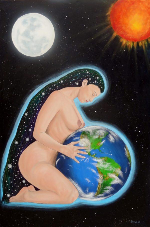 Gaia by Elluna Art A3 Size Print