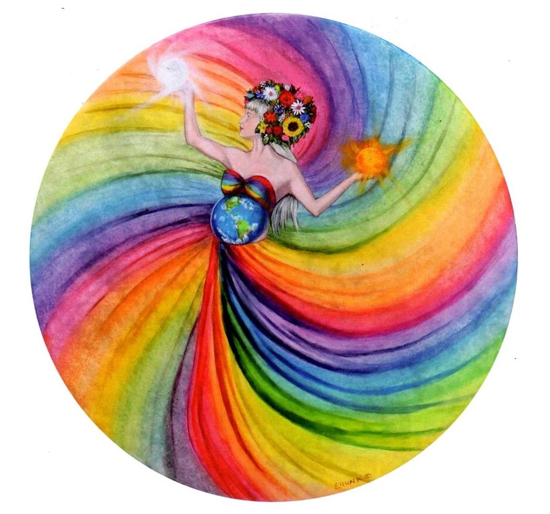 Goddess of the World Gift Card by Elluna Art