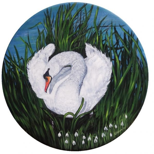 Swan Maiden Bridghe Gift Card by Elluna Art